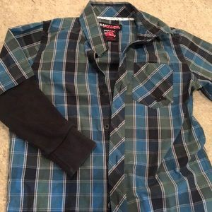 Tony Hawk long sleeve button down shirt